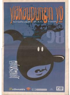 Yläkaupungin Yö 1998 poster